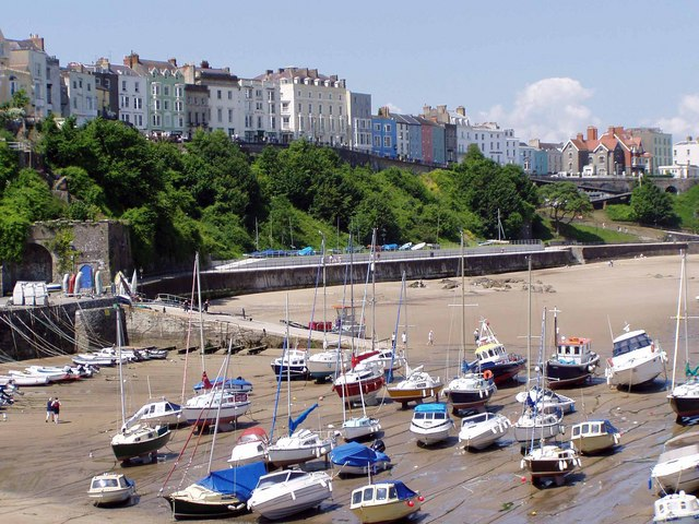 The Norton, Tenby, from the harbour.