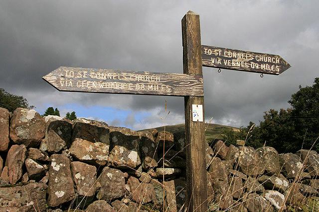 A signpost at Old Kirkland