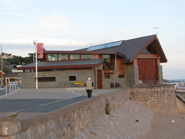 The new lifeboat station on Exmouth beach
