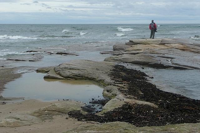 Annstead Rocks at high tide