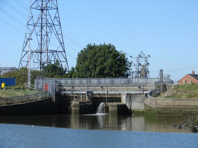 The end of West Fen Drain