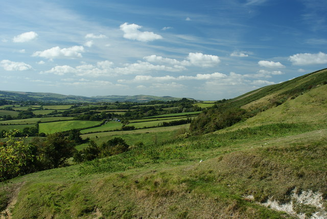 View Towards the Purbeck Hills, Dorset