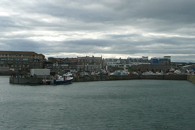 Seahouses from the sea