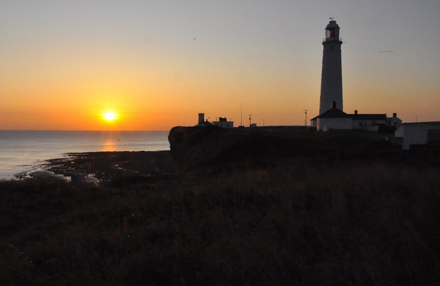 Nash Point lighthouses at sunset