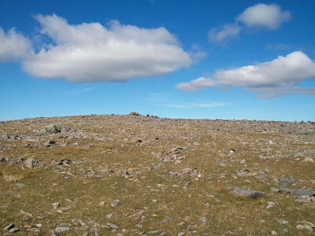 The summit plateau of Elidir Fach
