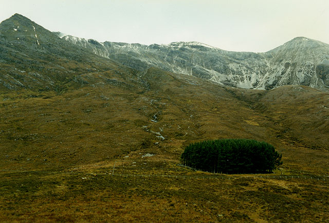 View towards Beinn Eighe from the Torridon road