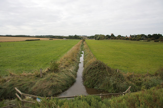 Drainage ditch at Morston