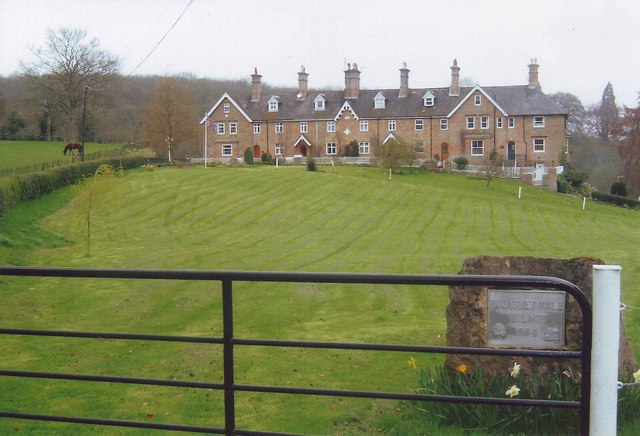 Row of houses in Pleasley Vale, Derbyshire
