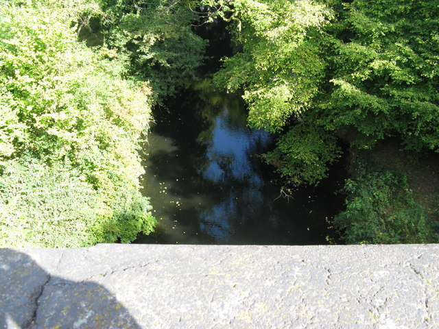 View from the top of Double Bridge to the River Arun below