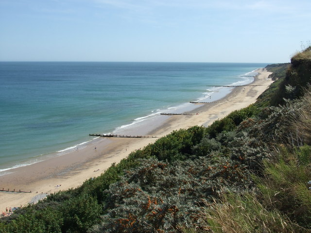 The North Sea and beach from the cliffs, Cromer
