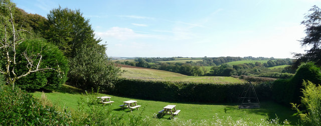 North Devon : The Gnome Reserve, Benches & Surrounding Countryside