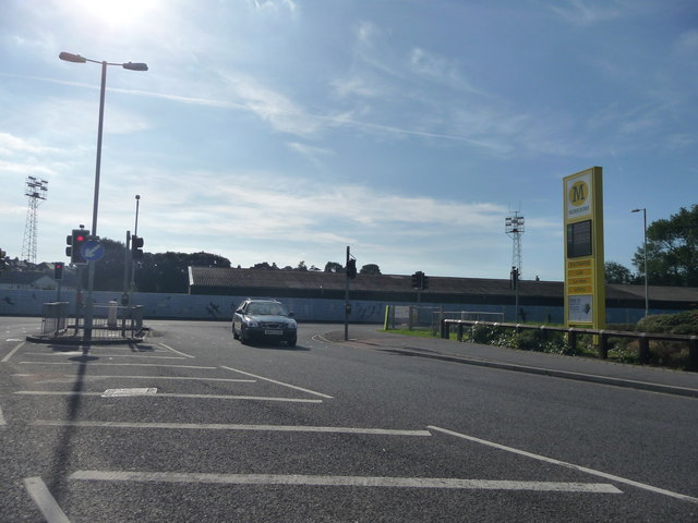 Bideford : Morrisons Entrance from Kingsley Road