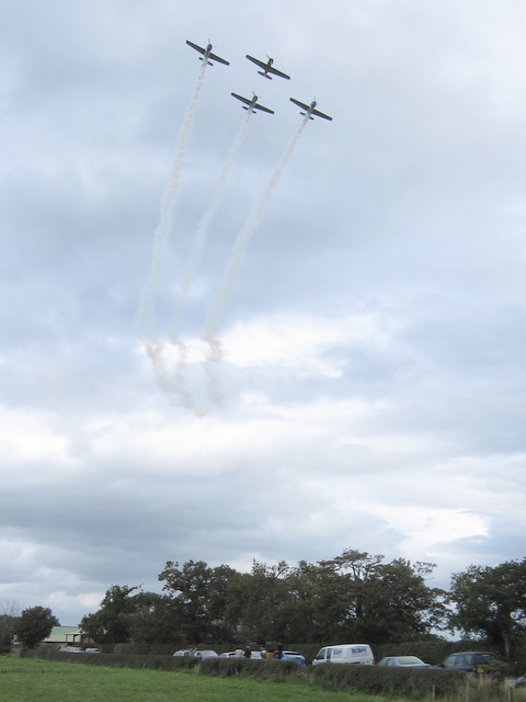 The Yakovlevs display team over Cop House Farm