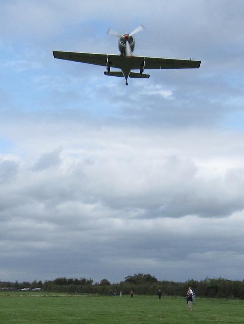 Yak 50 landing at Hawarden Airport