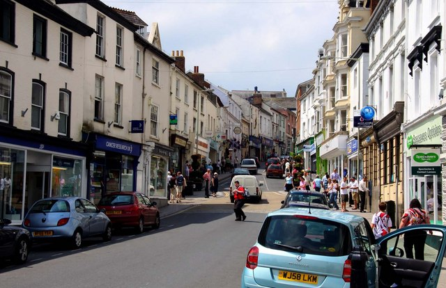 High Street in Bideford