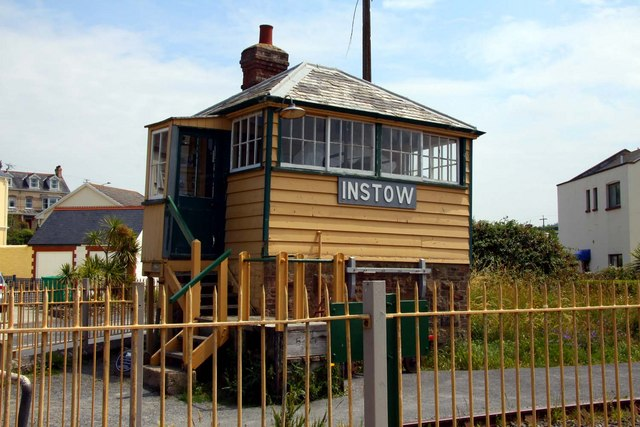 The old signal box at Instow