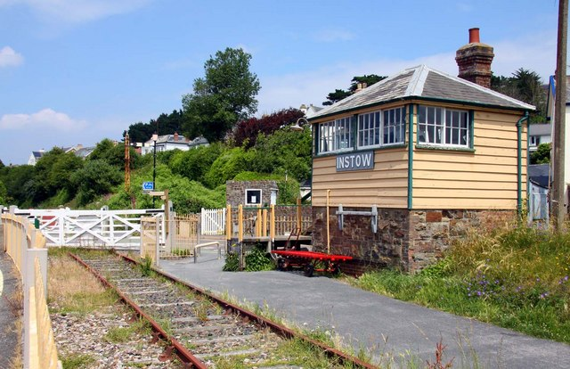 The disused railway and Tarka Trail in Instow
