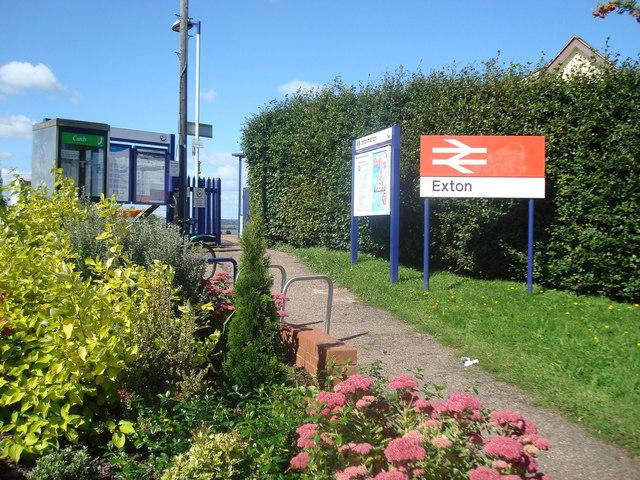 Entrance to Exton Railway Station