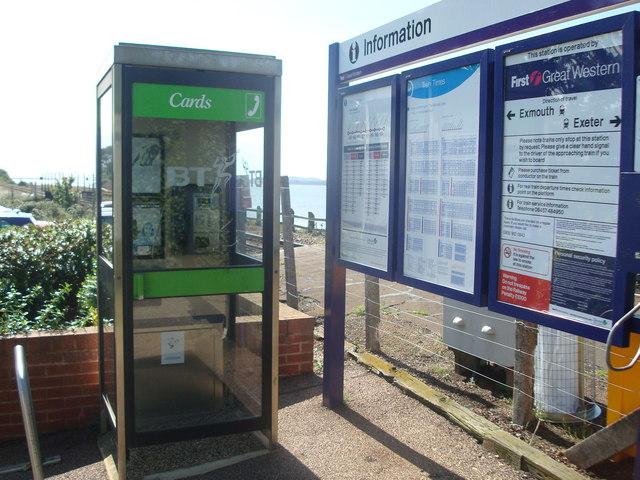 Telephone box, Exton Railway Station
