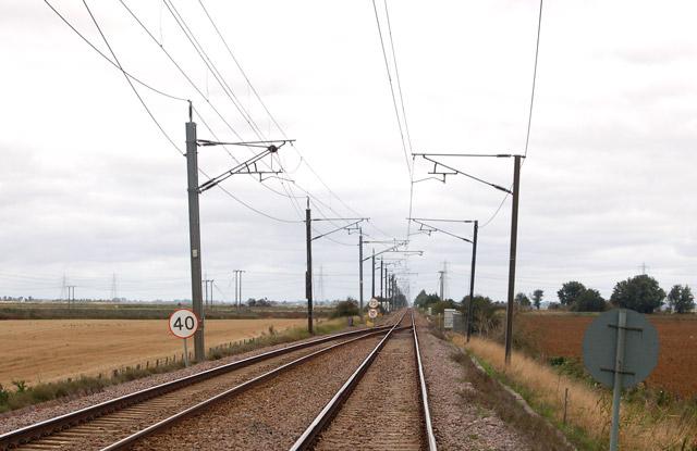 Railway north of Littleport