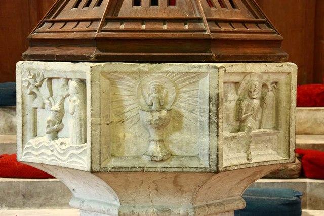 St Peter & St Paul, Shorne, Kent - Font bowl