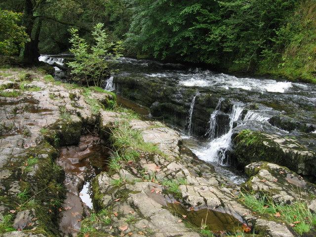 Afon Mellte at Sgwd y Pannwr