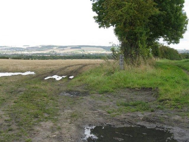 Stubble field and farm lane near Dalhousie