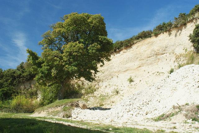 Gravel Pit on Nine Barrow Down, Dorset