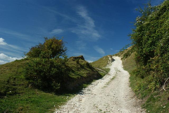 Bridleway on Nine Barrow Down, Dorset