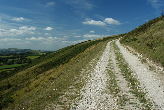 Bridleway on Nine Barrow Down, Dorset