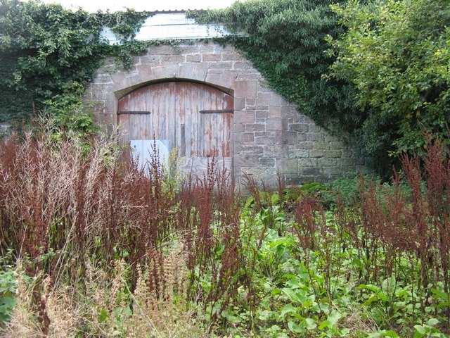 Gate in the wall at Grove Farm