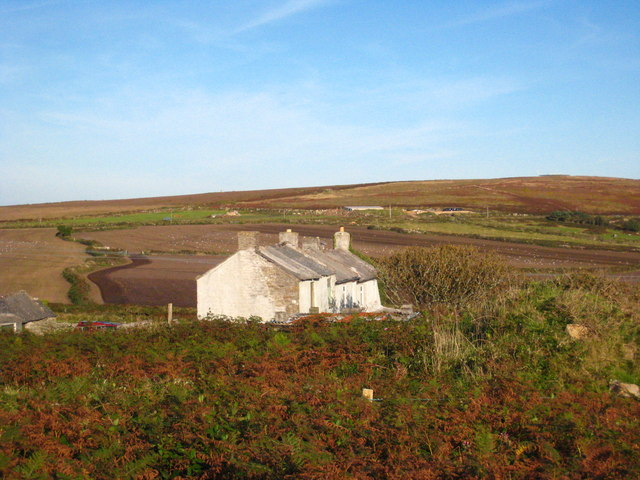 Farm cottages on the edge of Botallack Common
