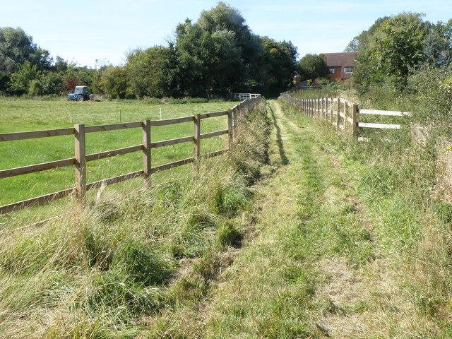 Footpath close to Bythorn village