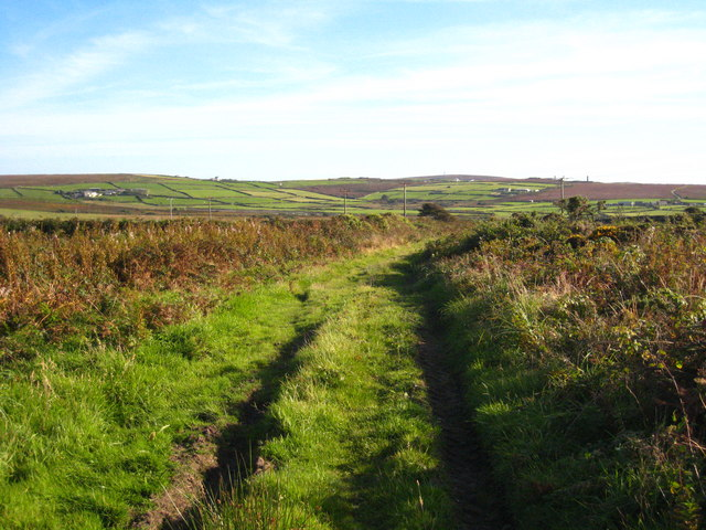Farm track at Boslow