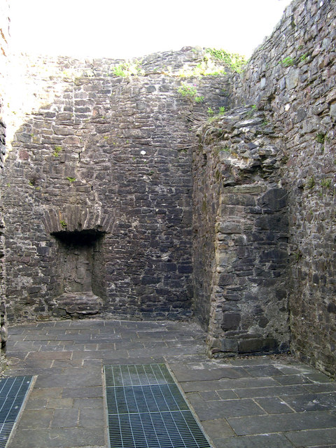 Room above Gate house at Carmarthen Castle