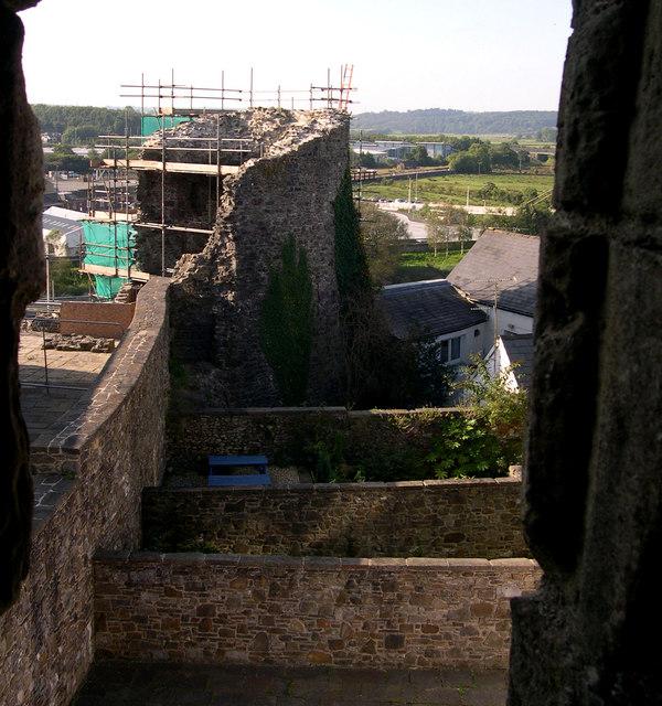 Restoration work at Carmarthen Castle