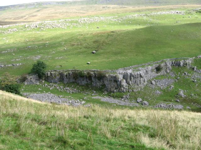 Limestone scar near Tar Bar