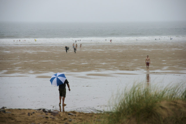 A Wet Day at Llangennith Burrows