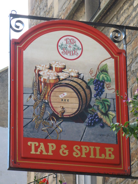 Sign for the Tap & Spile, Battle Hill