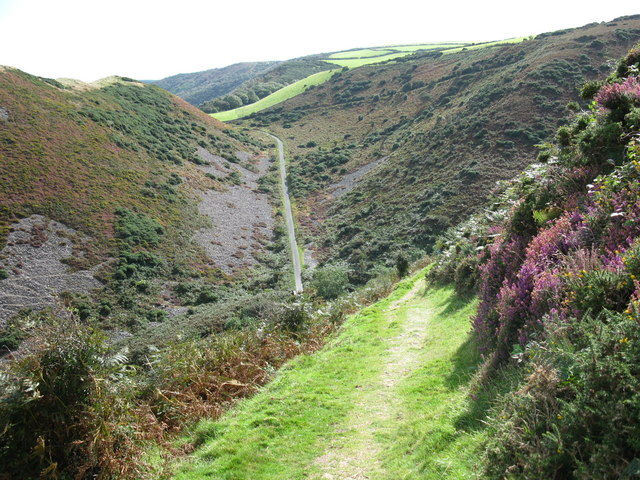 Coddow Combe from the South West Coast Path