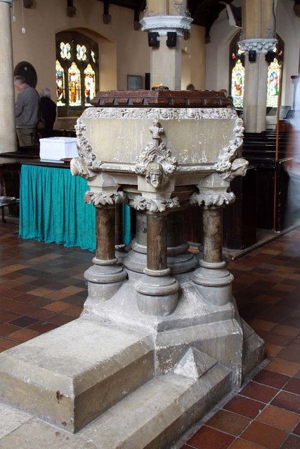 St Mary, Greenhithe, Kent - Font