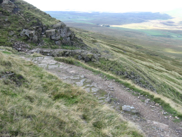 Pennine Way on Fountains Fell hillside