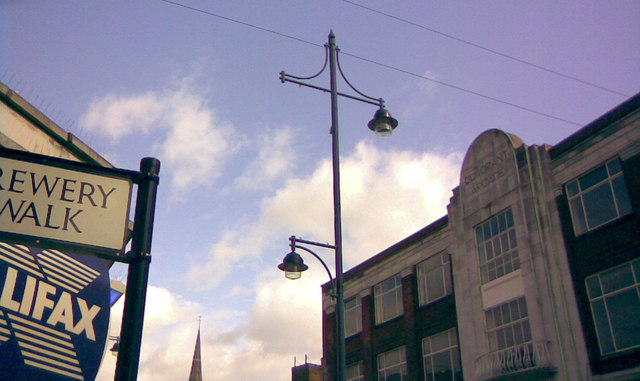 Lamp post in the town centre