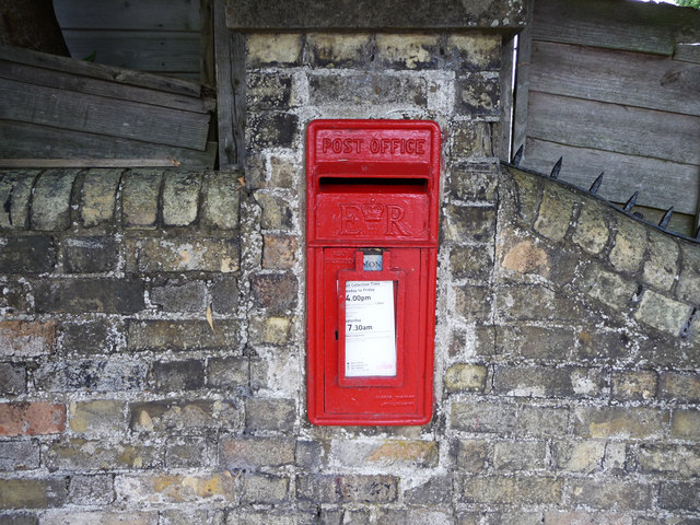 Queen Elizabeth II Wall Postbox, Station Road, Odsey, Cambs
