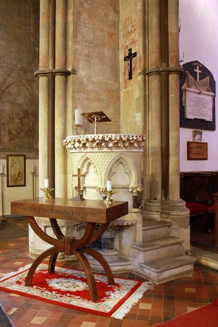 St Mary, Stone, Kent - Pulpit