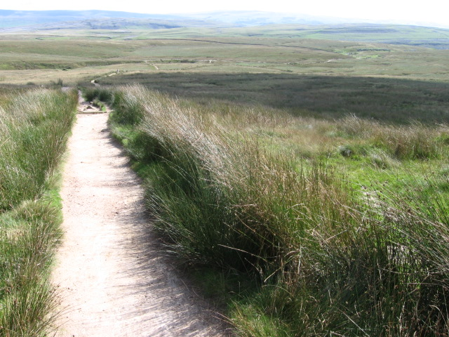 Footpath from Ingleborough towards Gaping Gill