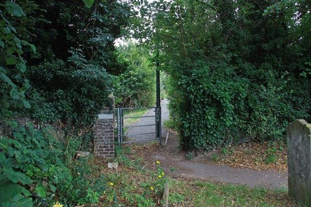 St Mary, Stone, Kent - Churchyard gate