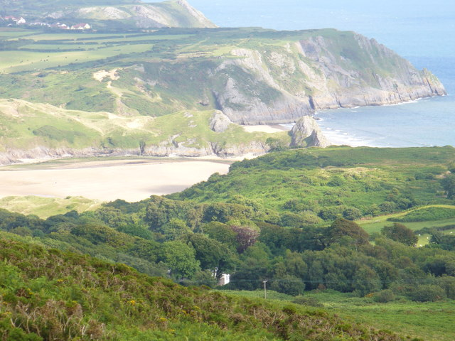 Three Cliffs Bay and Penmaen Burrows