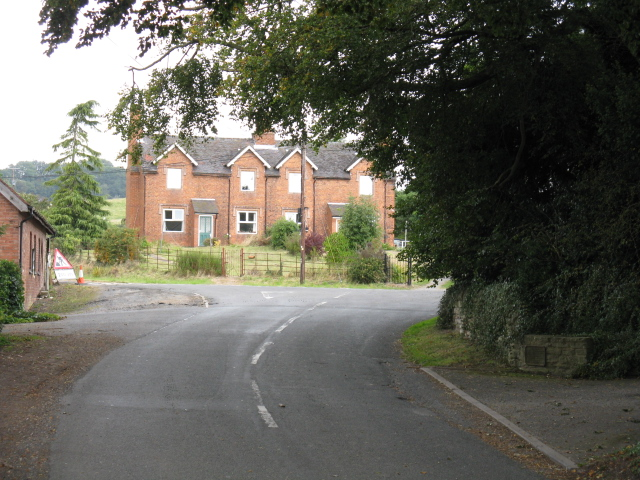 Houses At The Road Junction, Stockton on Teme