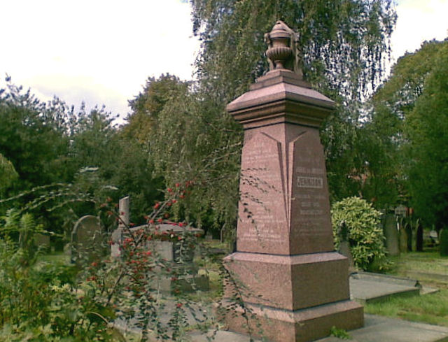 Memorial in St. Mary's graveyard